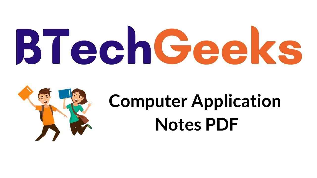 Computer Application Notes
