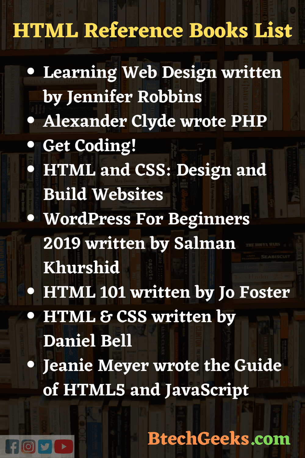 HTML Reference Books