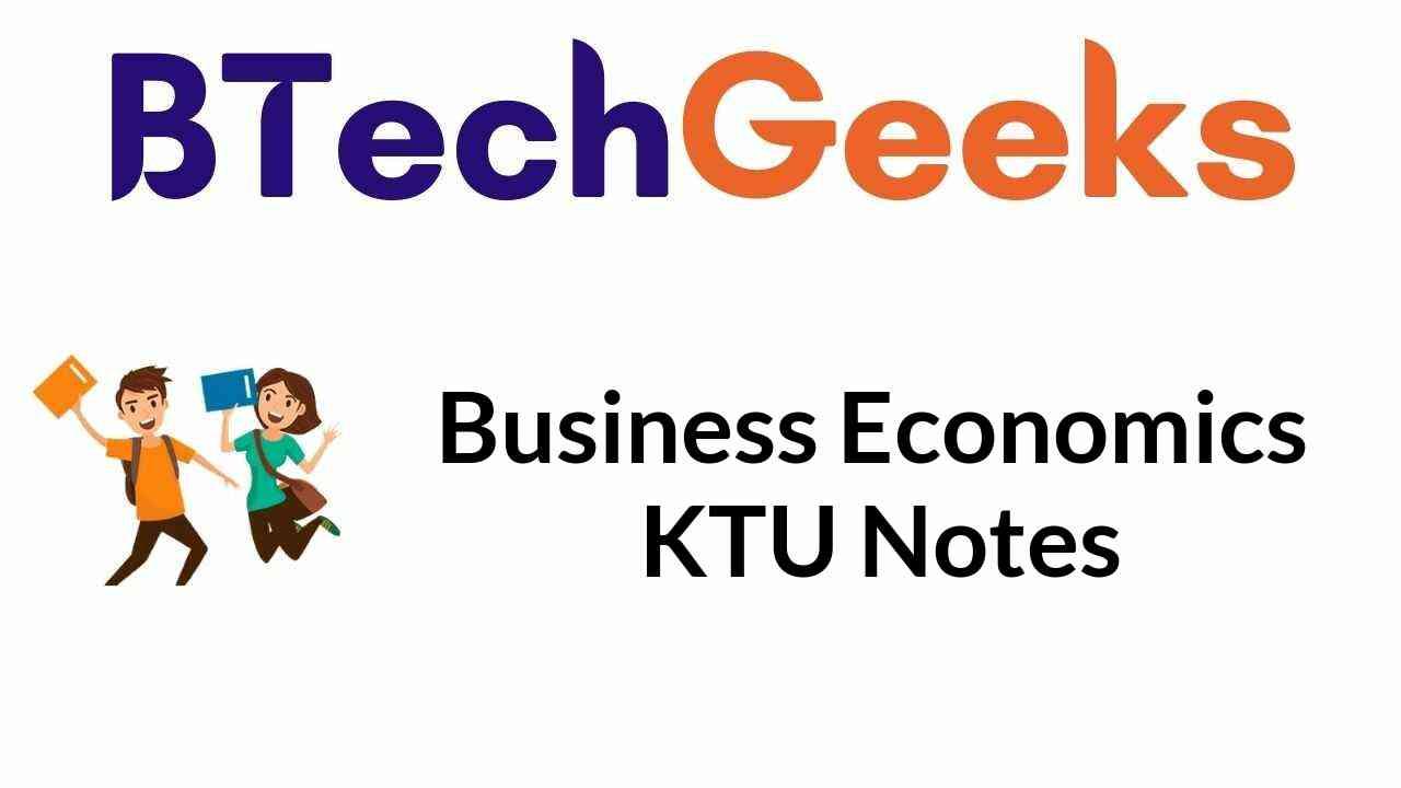 Business Economics KTU Notes