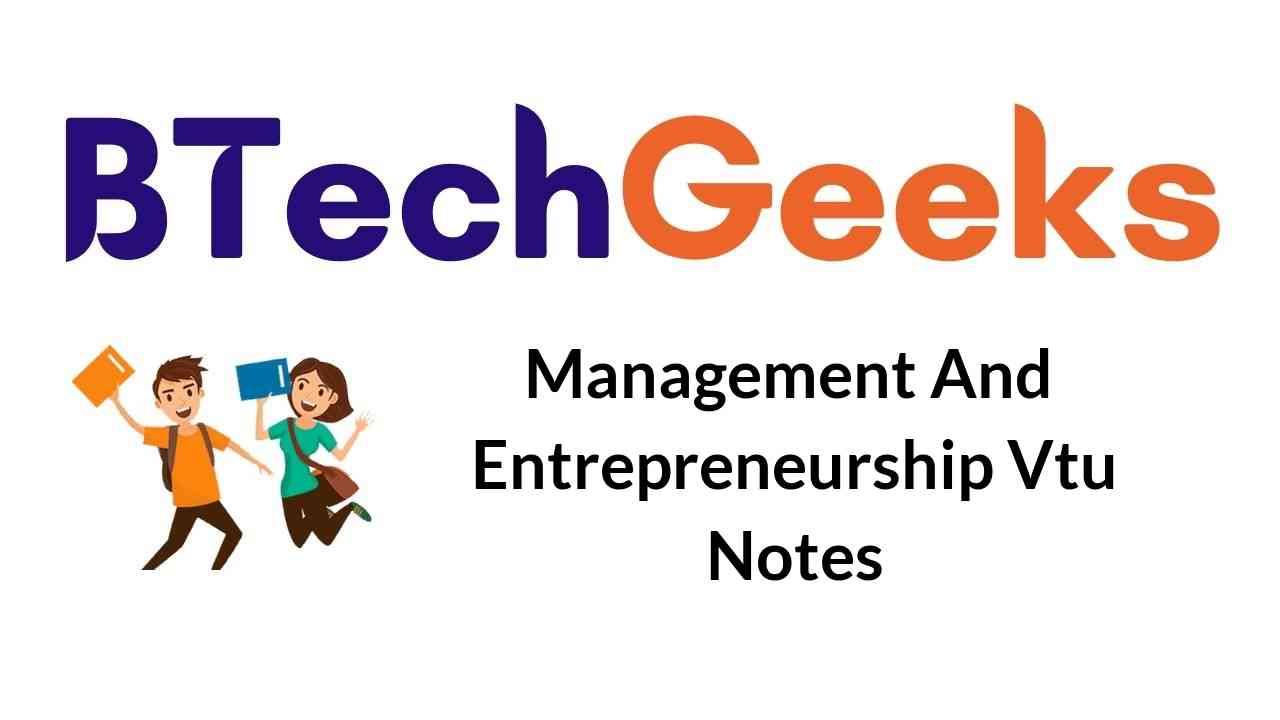 management-and-entrepreneurship-vtu-notes