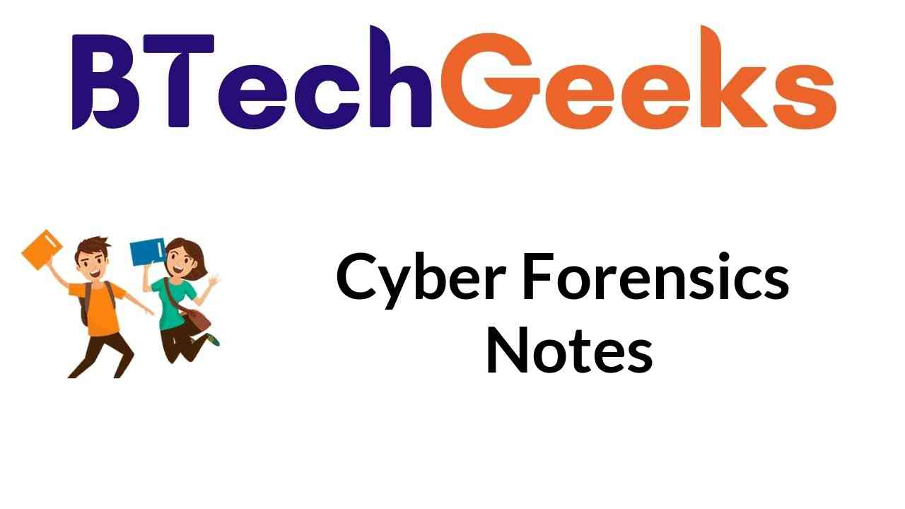 Cyber Forensics Notes