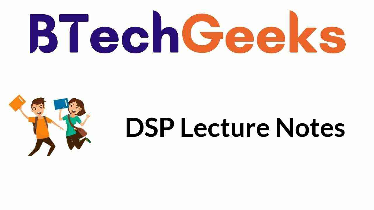 dsp-lecture-notes