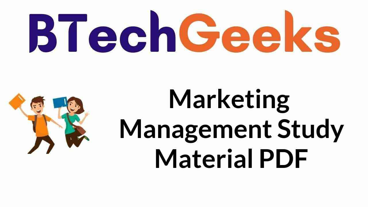 marketing-management-study-material-pdf