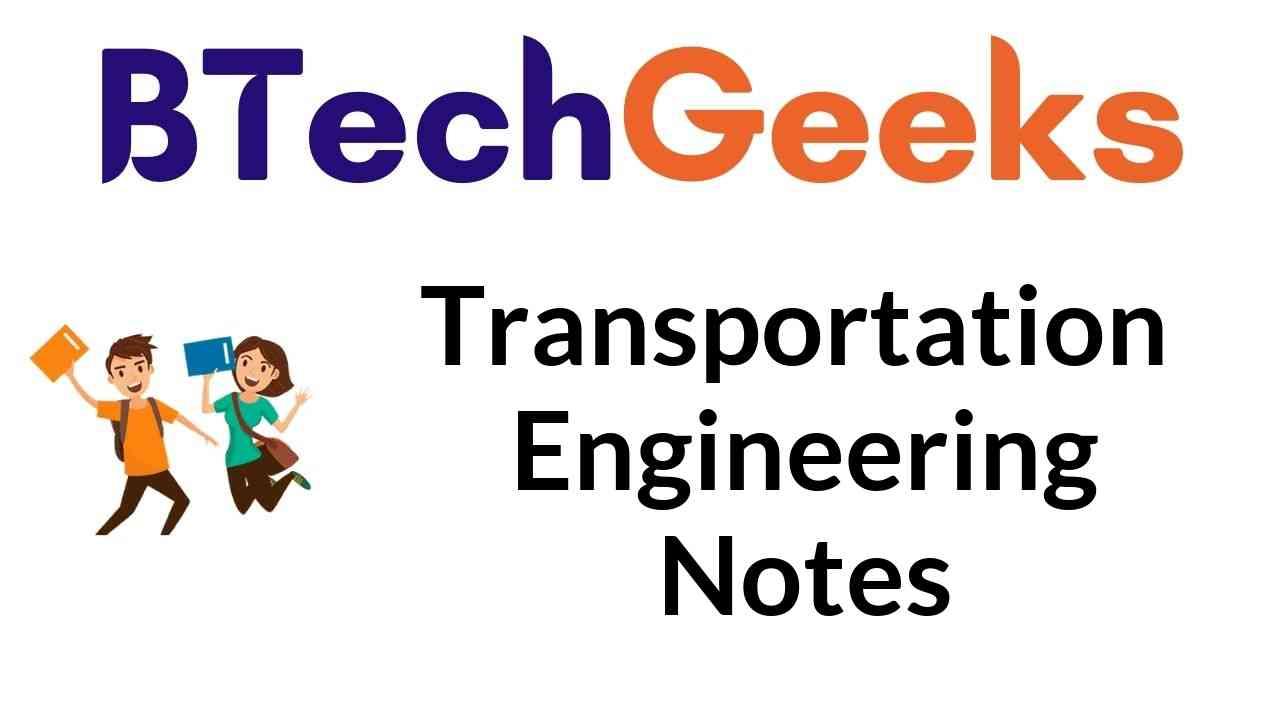 transportation engineering notes