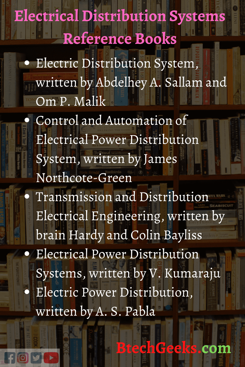 Electrical Distribution Systems Reference Books