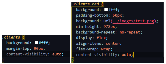 Add content-visibility property to the parts that are outside of the viewport