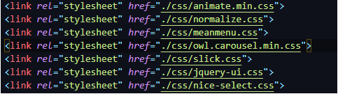 Change the CSS import module by using link CSS tags inside the HTML document 2