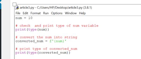 Convert-Integer-to-String-in-Python-Using-f-string