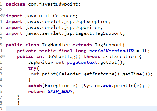 Custom Tags in JSP with Example 1