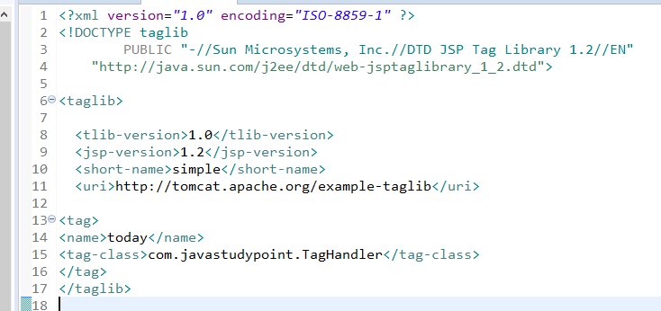 Custom Tags in JSP with Example 2