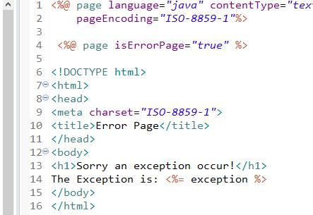 Exception Handling in JSP 3