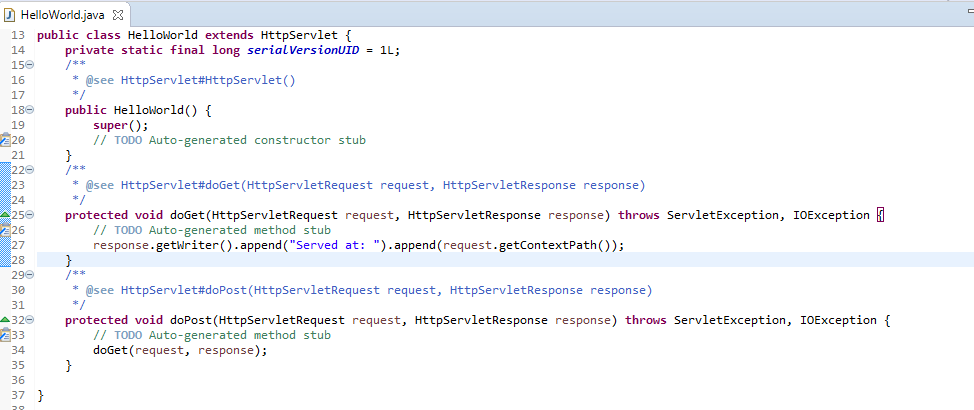 How to create Hello World Servlet example using eclipse IDE with Tomcat 7 10