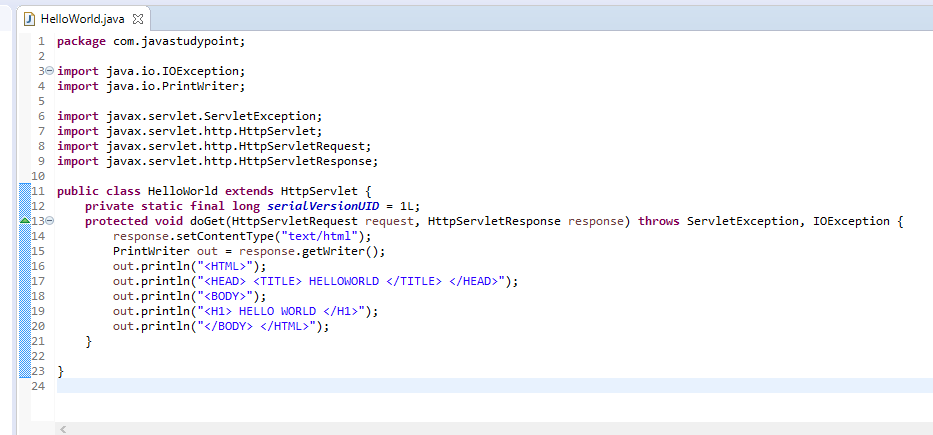 How to create Hello World Servlet example using eclipse IDE with Tomcat 7 11