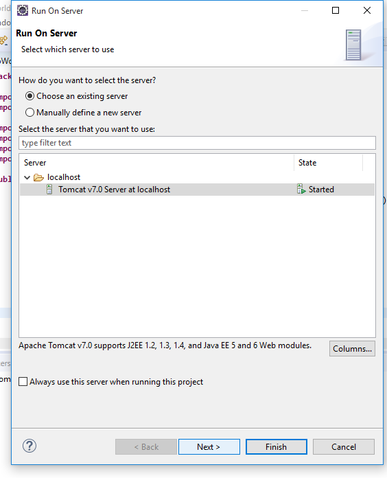 How to create Hello World Servlet example using eclipse IDE with Tomcat 7 13