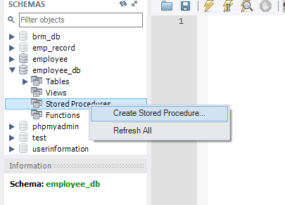 How to create and execute Stored Procedure in MySQL 1