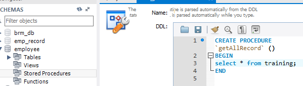 How to create and execute Stored Procedure in MySQL 2