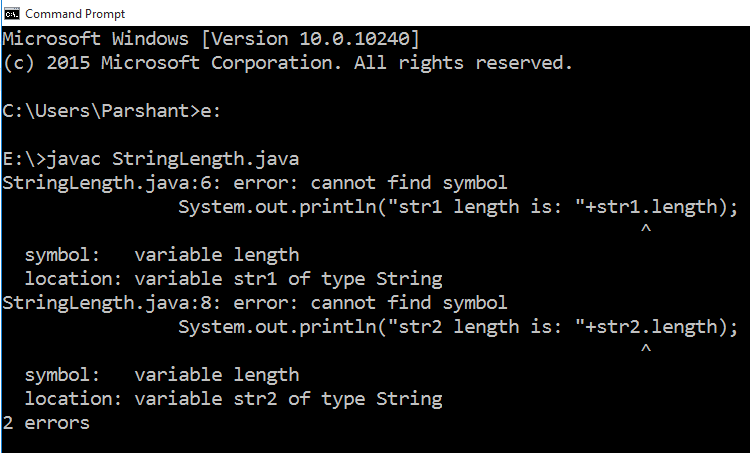 How to find String length in Java using length method