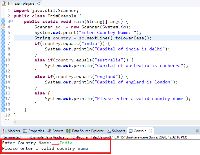 How to remove leading and trailing whitespaces from String in Java 3