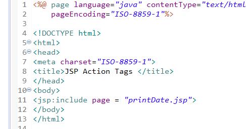 JSP Action Tags - jsp useBean, jsp include, jsp forward 1