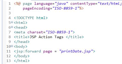 JSP Action Tags - jsp useBean, jsp include, jsp forward 3
