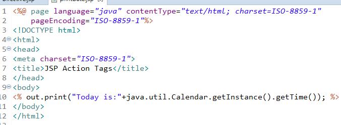 JSP Action Tags - jsp useBean, jsp include, jsp forward 4