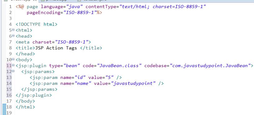 JSP Action Tags - jsp useBean, jsp include, jsp forward 5