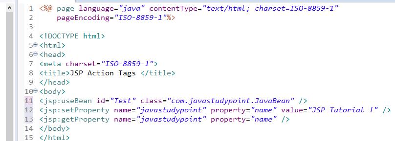JSP Action Tags - jsp useBean, jsp include, jsp forward 8