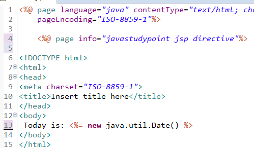 JSP Directives Page, Include and Taglib Directive 3