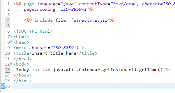 JSP Directives Page, Include and Taglib Directive 6
