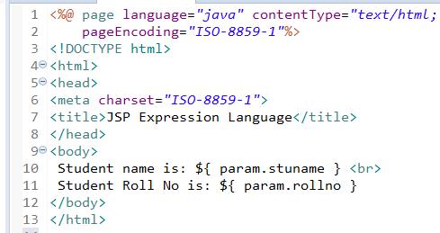 JSP Expression Language (EL) 3