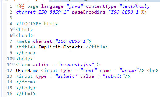 JSP Implicit Objects 9 Implicit Objects in JSP 13