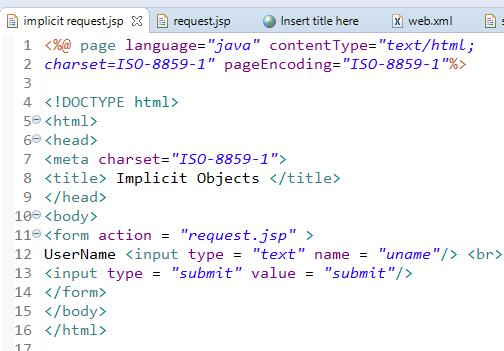 JSP Implicit Objects 9 Implicit Objects in JSP 16