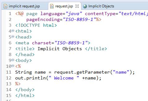 JSP Implicit Objects 9 Implicit Objects in JSP 2