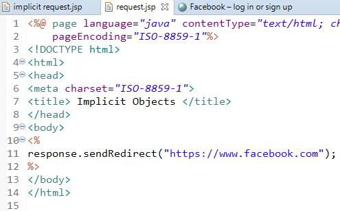 JSP Implicit Objects 9 Implicit Objects in JSP 5