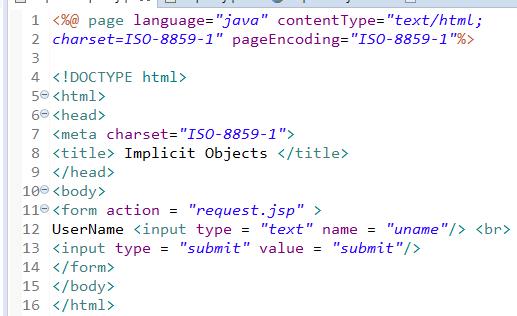 JSP Implicit Objects 9 Implicit Objects in JSP 7