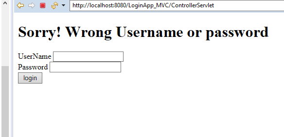 MVC Architecture in JSP with Example 11