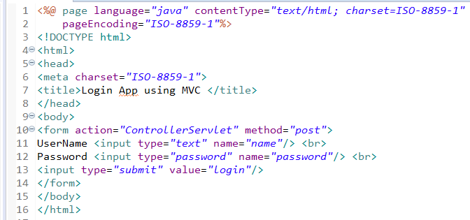 MVC Architecture in JSP with Example 2