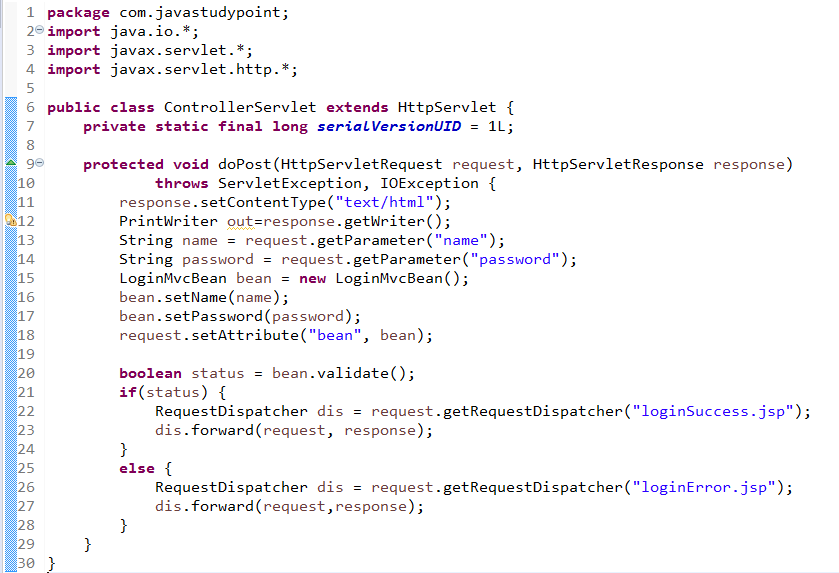 MVC Architecture in JSP with Example 3