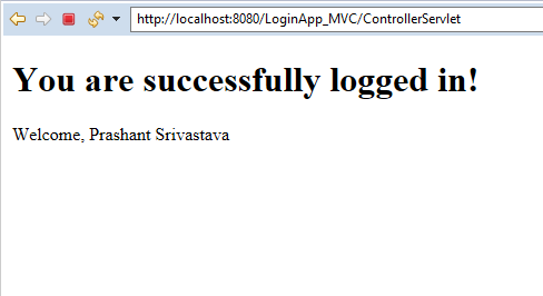 MVC Architecture in JSP with Example 9