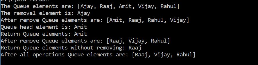 PriorityQueue in Java with Example 2