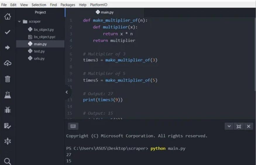 Python IDEs and Code Editors_using atom