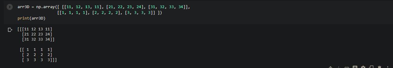 3D Numpy array