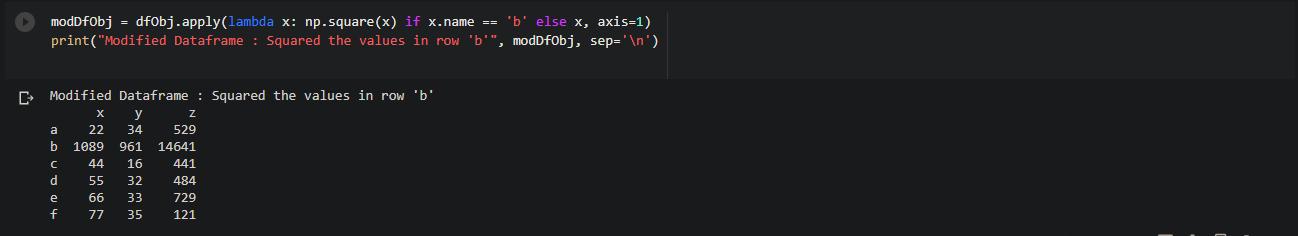 apply method on rows