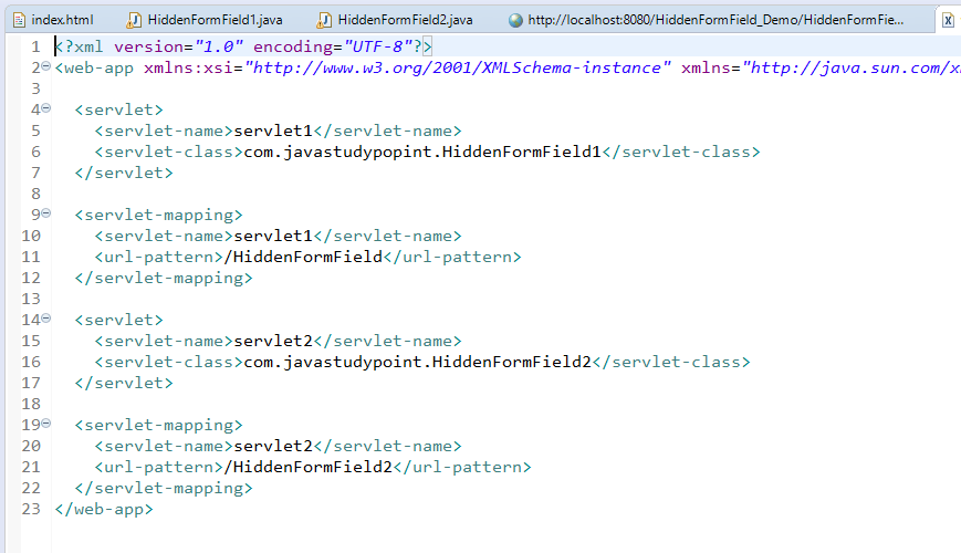 Session Management Using Hidden Form Field in Servlet with Example 4