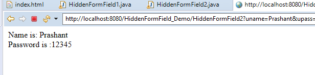 Session Management Using Hidden Form Field in Servlet with Example 7