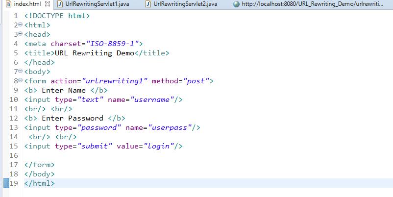 Session Management Using URL Rewriting in Servlet 1