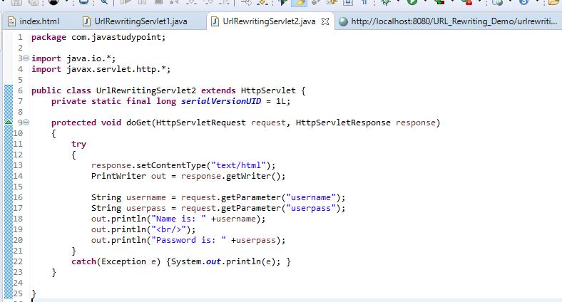 Session Management Using URL Rewriting in Servlet 3