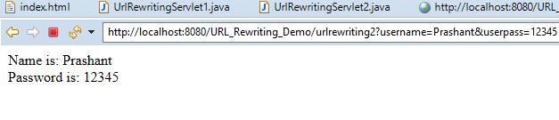 Session Management Using URL Rewriting in Servlet 7