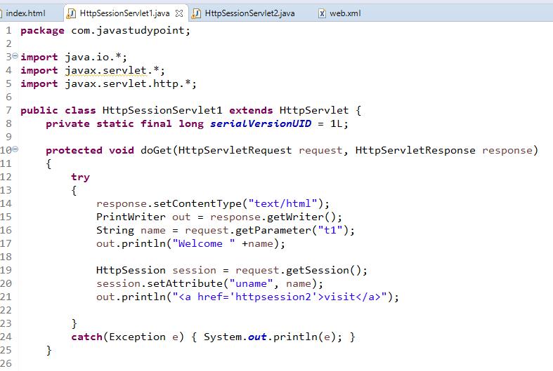 Session Management in Servlet Using HttpSession 3