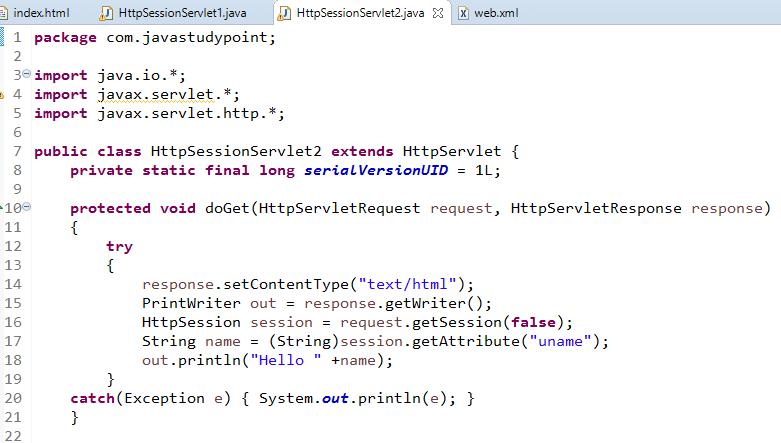 Session Management in Servlet Using HttpSession 4